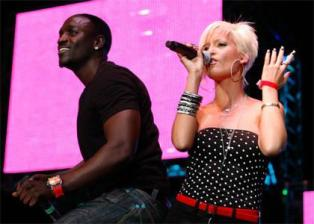 Tami Chynn with Akon in London